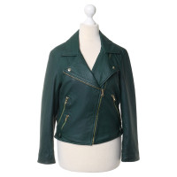 Max & Co Leather jacket in moss green