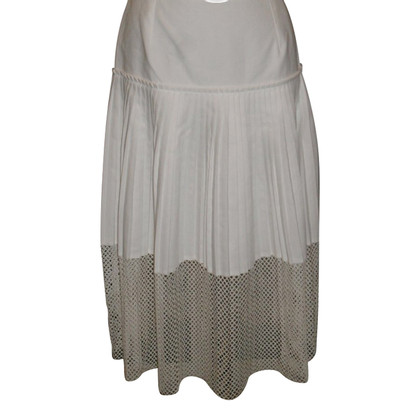 Stella McCartney Pleated skirt with mesh