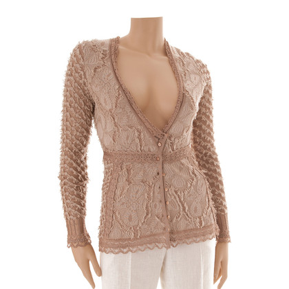 John Galliano Strickjacke in Nude