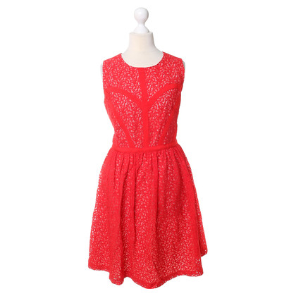 Erin Fetherston Red lace dress