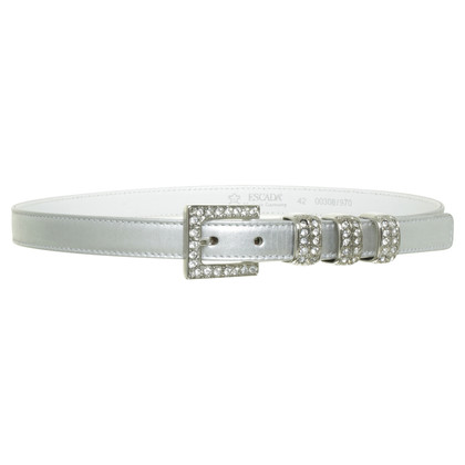 Escada Belt with decorative stone trim