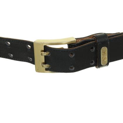 Escada Black belt with gold buckle