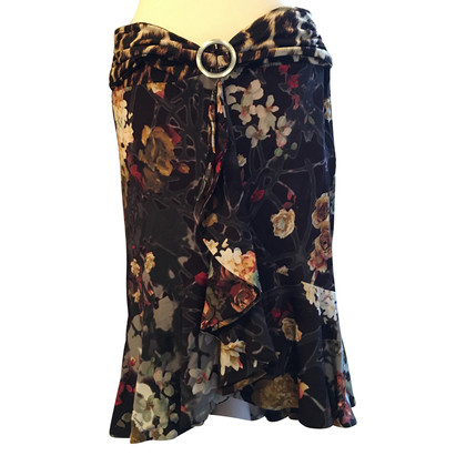 Just Cavalli Rock mit Blumen-Print