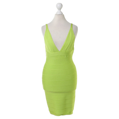 Herve Leger Bodycon jurk in groen