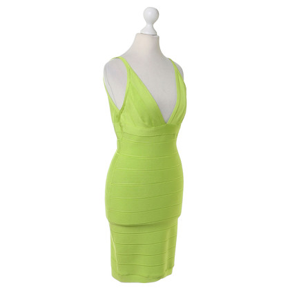Herve Leger Bodycon dress in green