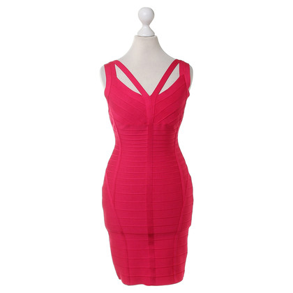 Herve Leger Dress in Fuchsia