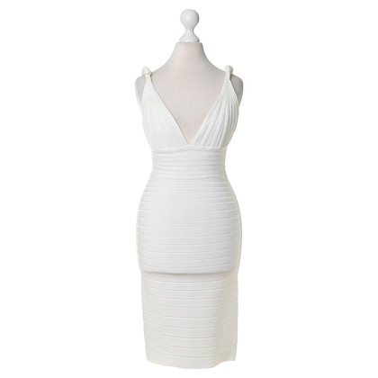 Herve Leger Bodycon jurk in wit