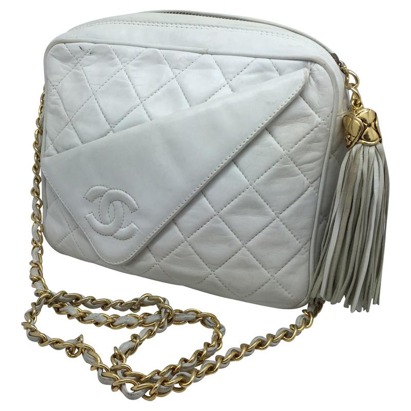 Chanel Camera Bag in white