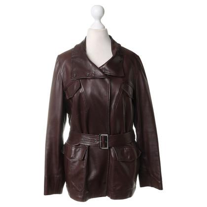 Loro Piana Leather jacket in Brown