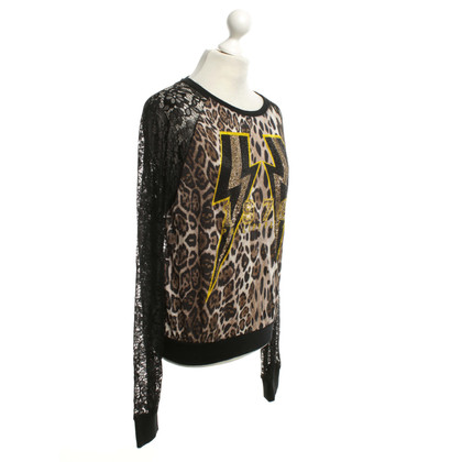 Philipp Plein Sweater with lace sleeves