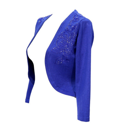 Hobbs Silk bolero in blue