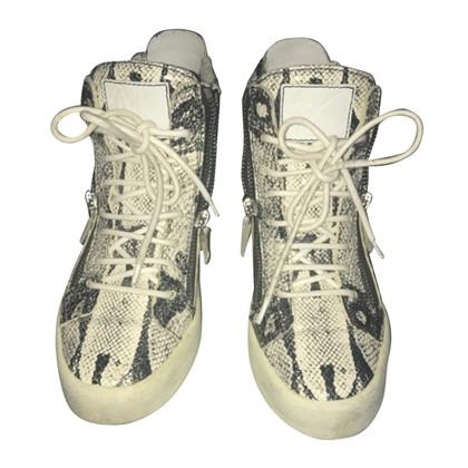 Giuseppe Zanotti Sneakers in reptileder look