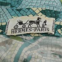 Hermès camicetta maniche lunghe con un motivo colorato