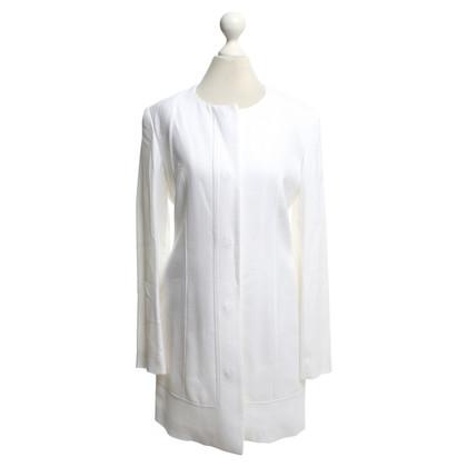 Versace Manteau en blanc