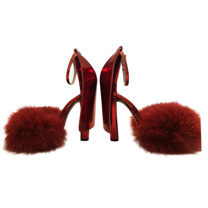 Alexander Wang High Heels with fur trim