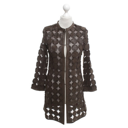 Caban Romantic Coat with perforation