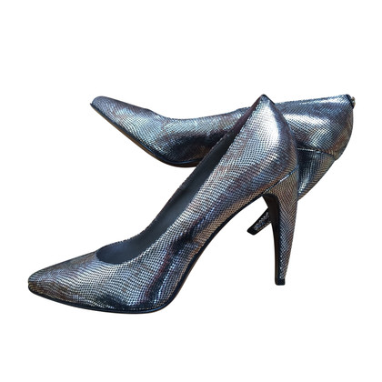 Just Cavalli pumps in metallic reptile look
