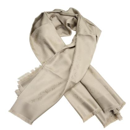 Louis Vuitton Scialle Monogram Beige 100% seta