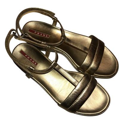 Prada Summer shoes gold