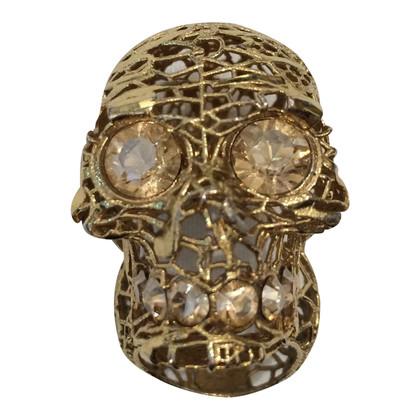 McQ Alexander McQueen Bague avec motif tête de mort