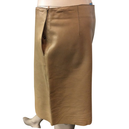 René Lezard leather skirt
