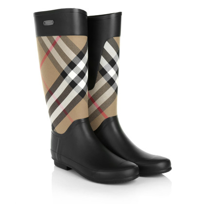 Burberry Regen laarzen met Nova patroon van de controle