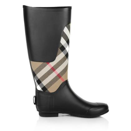 Burberry Rain boots with Nova check pattern