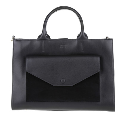 Hugo Boss Bridget Leather Shopper Black