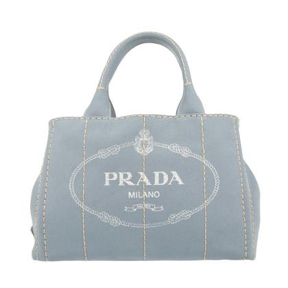 Prada Canapa Canvas Shopping Bag Astral