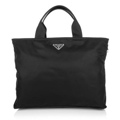 Prada Nylon shoppers in zwart