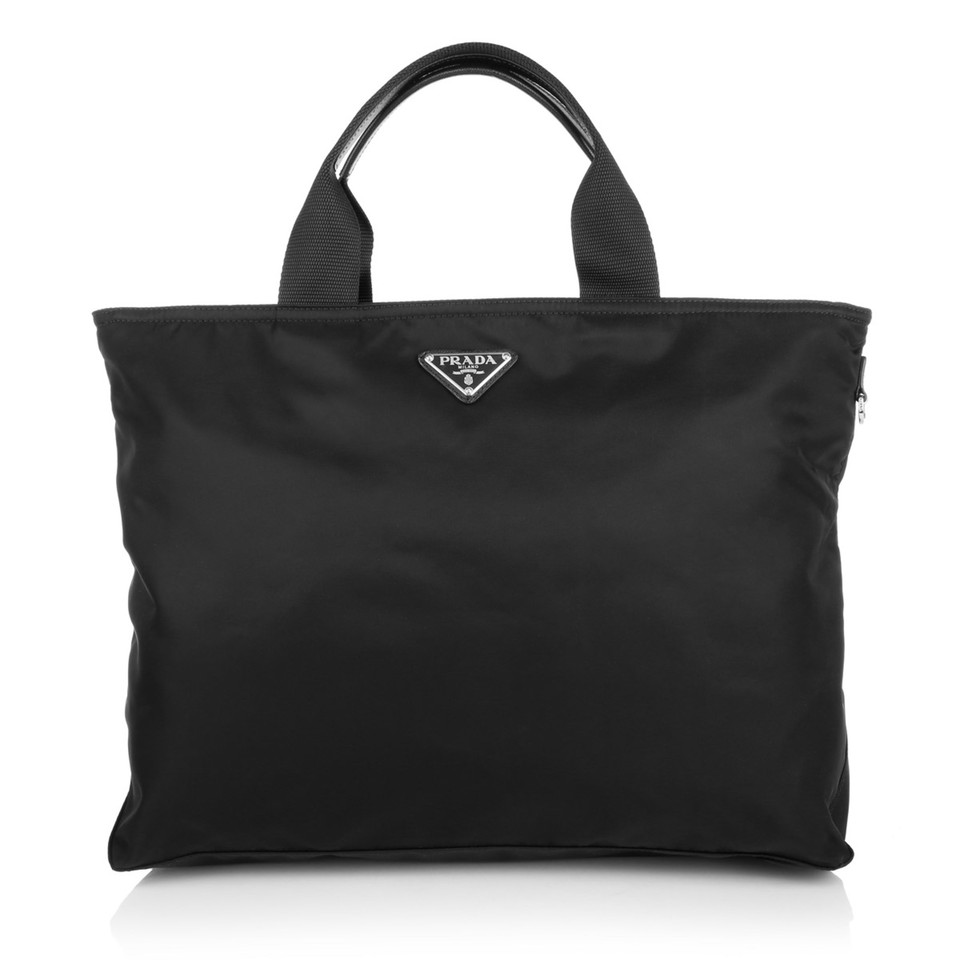 prada nylon shopper in schwarz second hand prada nylon. Black Bedroom Furniture Sets. Home Design Ideas