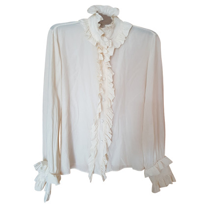 Roberto Cavalli Silk blouse cream