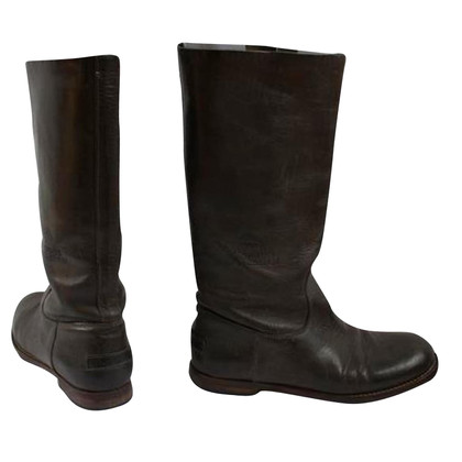 Shabbies Amsterdam Dark green boots