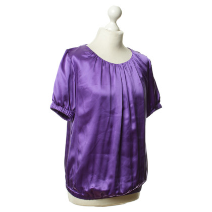 D&G Top in seta viola