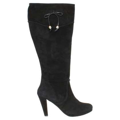 Other Designer Marina Rinaldi - Black Suede boot