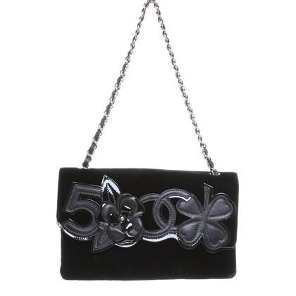 Chanel Samttasche in Schwarz