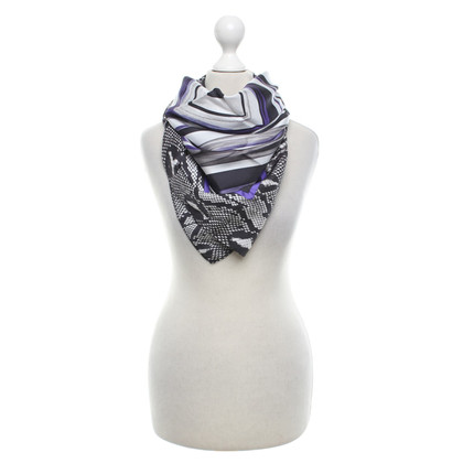 Marc Cain Silk scarf with pattern
