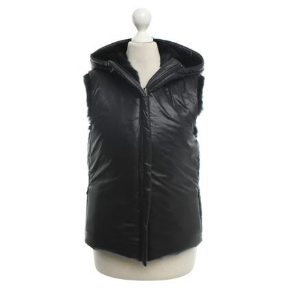 Oakwood Reversible vest with rabbit fur