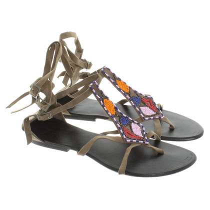 Antik Batik Sandals with colorful jewelry beads