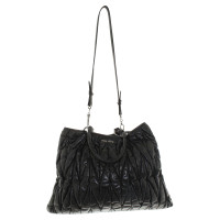 Miu Miu Shopper in metal-leather