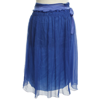 Philosophy di Alberta Ferretti Silk skirt in blue