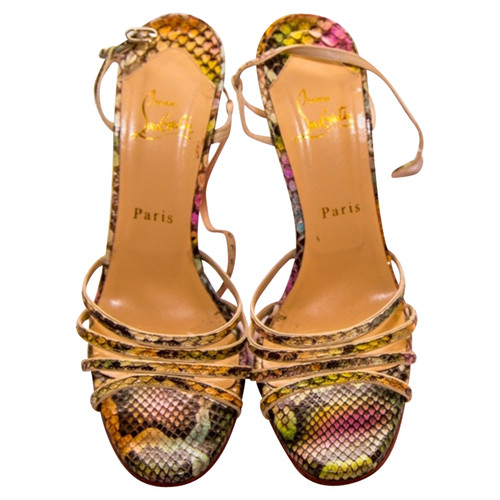 d368a7670e6c Christian Louboutin Sandals made of Python leather - Second Hand ...