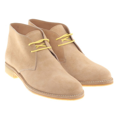Bottega Veneta Ankle boots with yellow lacing