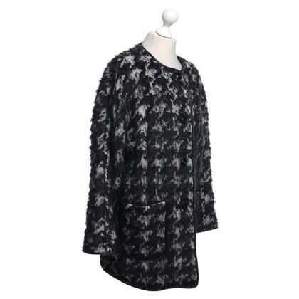 Basler Mantel mit Hahnentritt-Muster