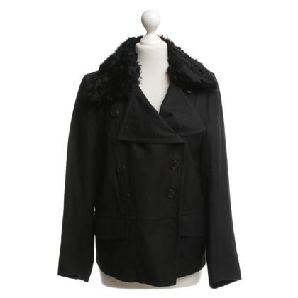 Ann Demeulemeester Jacket with fur collar
