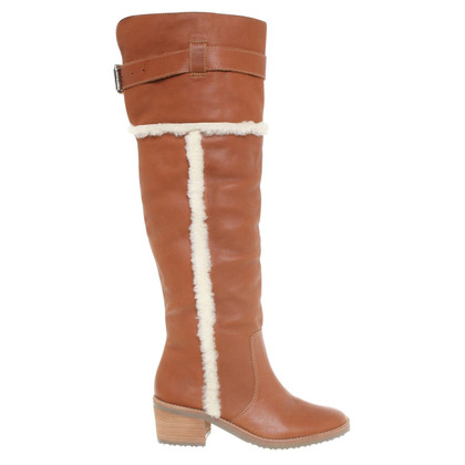 Michael Kors Leather boots and lambskin
