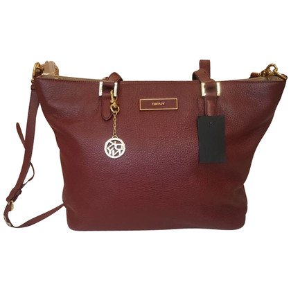 DKNY DKNY Burgundy Leather Handbag
