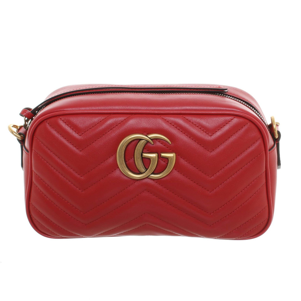 gucci marmont matelasse bag in rot second hand gucci. Black Bedroom Furniture Sets. Home Design Ideas