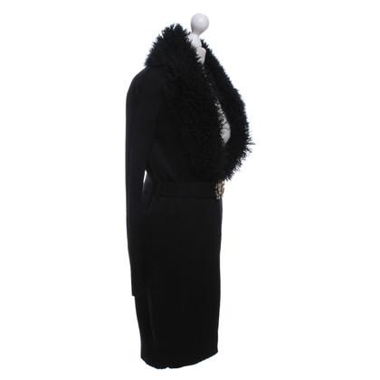 Roberto Cavalli Knitted coat in black