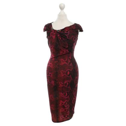 Roberto Cavalli Korte mouw jurk met animal print